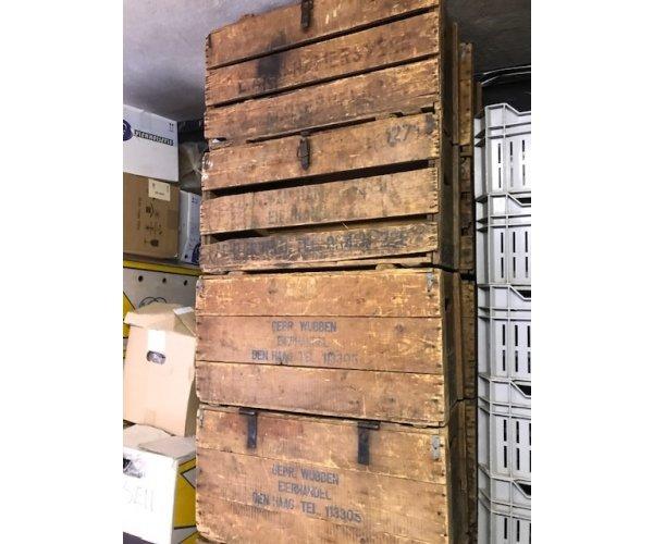 Advertentie oude antieke houten kisten - Advertentie stuk ...
